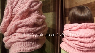Шарф снуд. Вязаный шарф хомут, труба. Вязание спицами.   Knitting(Hobby)(Вязание шарфа спицами( снуд, хомут, труба ). Мастер-класс. Knitting(Hobby), 2016-02-03T21:34:26.000Z)