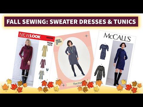 Fall Sewing Inspiration: Sweater Knit Dresses & Tunics