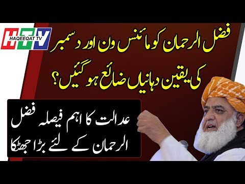 Haqeeqat TV: A Setback For Fazal ur Rehman After the Verdict of SC and Asif Khosa