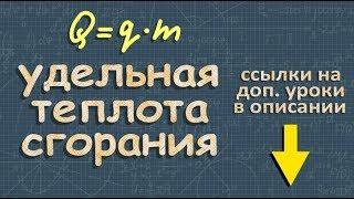 физика УДЕЛЬНАЯ ТЕПЛОТА СГОРАНИЯ 8 класс