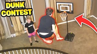 INSANE INDOOR MINI HOOP DUNK CONTEST