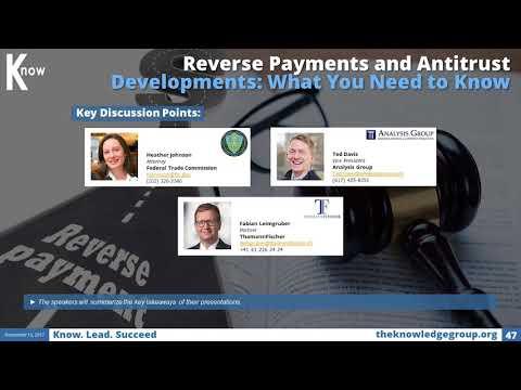 Reverse Payments and Antitrust Developments