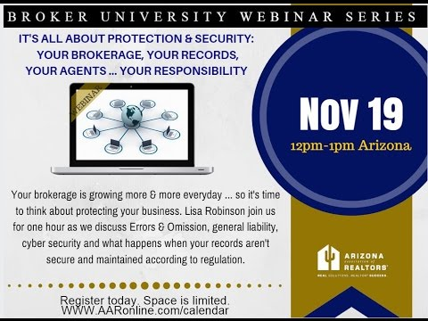Broker University: E&O, Safe Record Keeping 11.19.2015