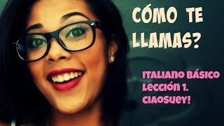 Cómo presentarse en italiano! - #1