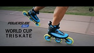 Powerslide Race WORLD CUP Triskate - 125mm 3 wheel inline skates with TRINITY MOUNTING 904805
