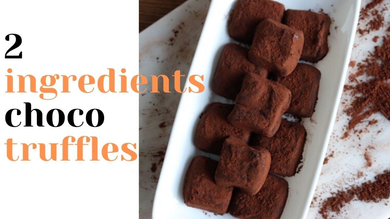 Condensed milk chocolate Truffles quick recipe - YouTube