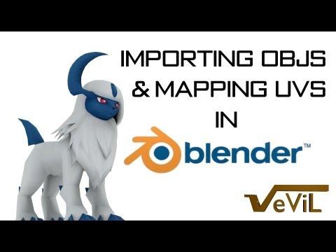 Importing OBJs and Modifying UVs in Blender
