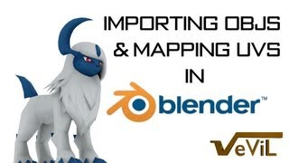 Importing OBJs and Modifying UVs in Blender