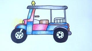 รถตุ๊กตุ๊ก สามล้อเครื่อง สอนวาดรูปการ์ตูนน่ารักง่ายๆ สอนวาดรูปการ์ตูนระบายสี Coloring Pages