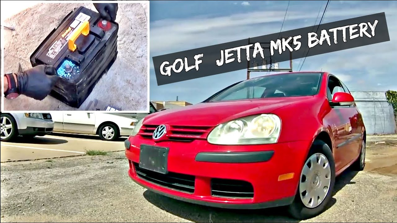 Vw Golf Jetta Mk5 Battery Replacement And Removal 2005 2006 2007 2008 2009 2010