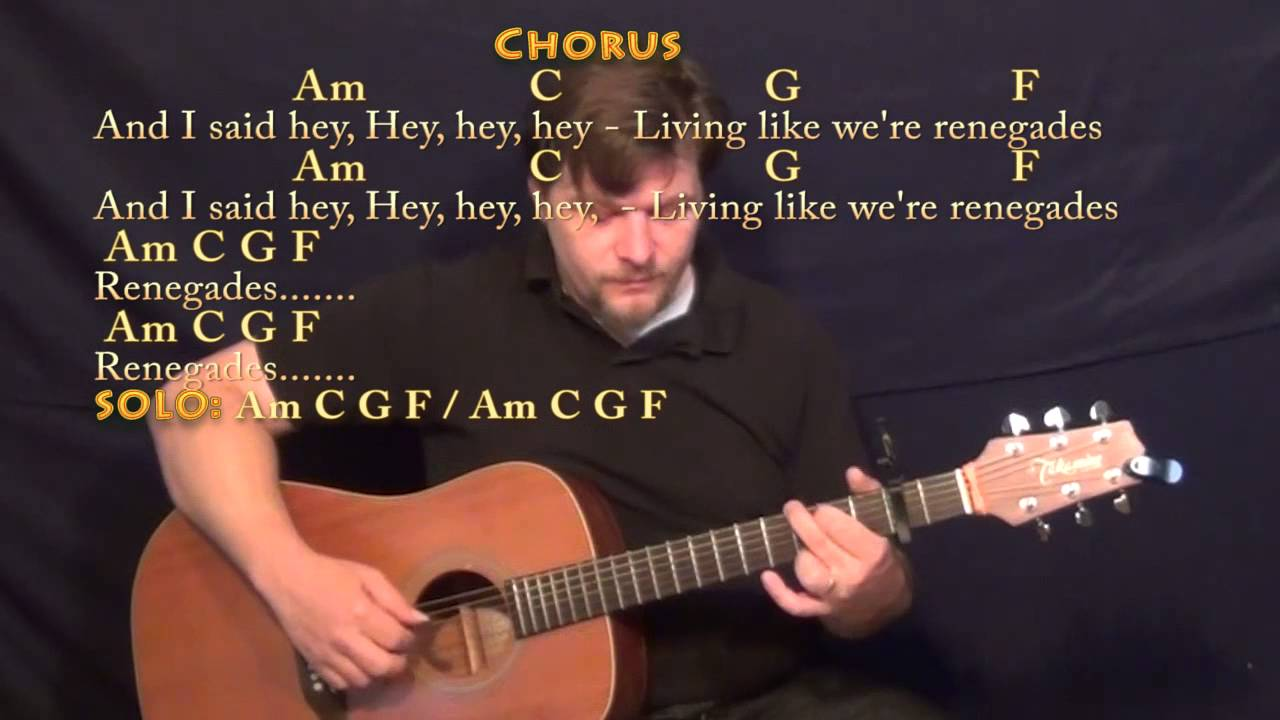 Renegades (X Ambassadors) Fingerstyle Guitar Cover Lesson with Chords/Lyrics - Capo 2nd - YouTube