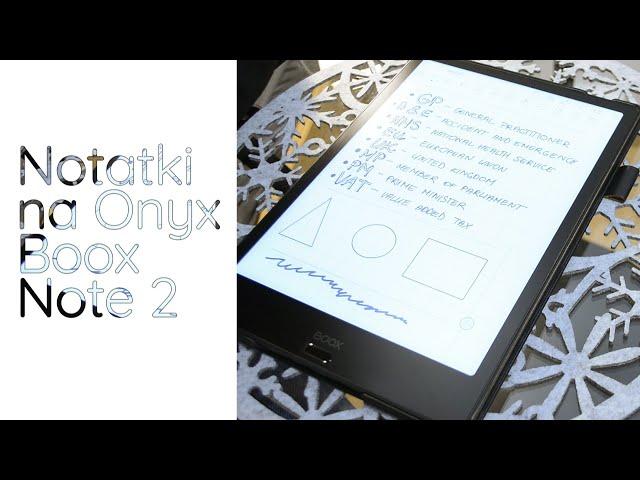Notowanie na Onyx Boox Note 2- poradnik
