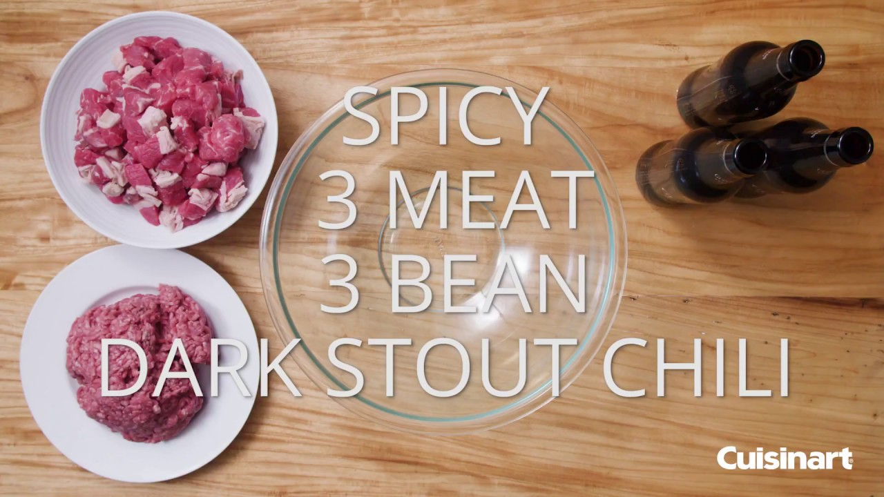 spicy 3 meat 3 bean chili recipe youtube