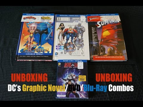 DC's Graphic Novel/DVD/Blu-Ray Combos - UNBOXING (Superman: Doomsday & Wonder Woman)