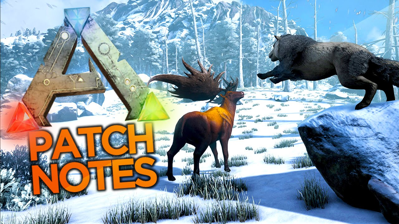 Ark survival evolved patch notes - Ark Survival Evolved Dire Wolf Snow Biomes Huge Frogs More Ark Patch Notes Youtube