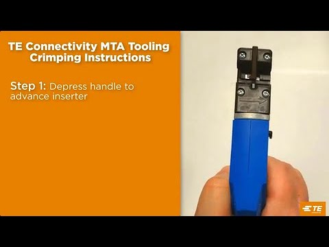 How to use an MTA manual hand tool - pn# 58074-1