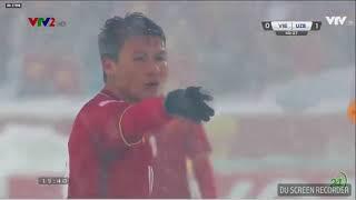 Quả sút phạt của Quang Hải 19 trận chung kết VIỆT NAM-Uzbekistan 2018  Hiệp 1 rất đảng cấp.