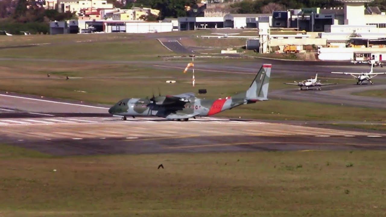 Aviões Turboélice da FAB, decolando da Pampulha