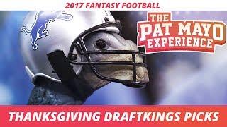 Video 2017 Fantasy Football - Thanksgiving DraftKings Picks, Game Picks, Sleepers and Previews download MP3, 3GP, MP4, WEBM, AVI, FLV November 2017