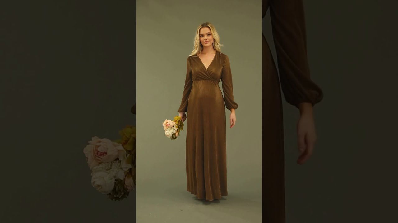 Bump Friendly Soft Solid V Neck Casual Maxi Dresses Brown Maternity Dress By Faeriesty Youtube