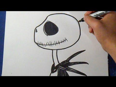 Cómo dibujar a Jack skeleton 4 | How to Draw jack skellington - YouTube