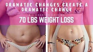 I LOST 70 lbs || WEIGHT LOSS || DRAMATIC CHANGE COMES DRAMATIC RESULTS  || RAW VEGAN
