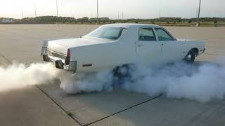 Vintage 1973 Plymouth Fury 1 CO State Patrol car.  (1st test burnout).