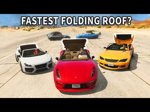 GTA V - Which car has Fastest folding roof?