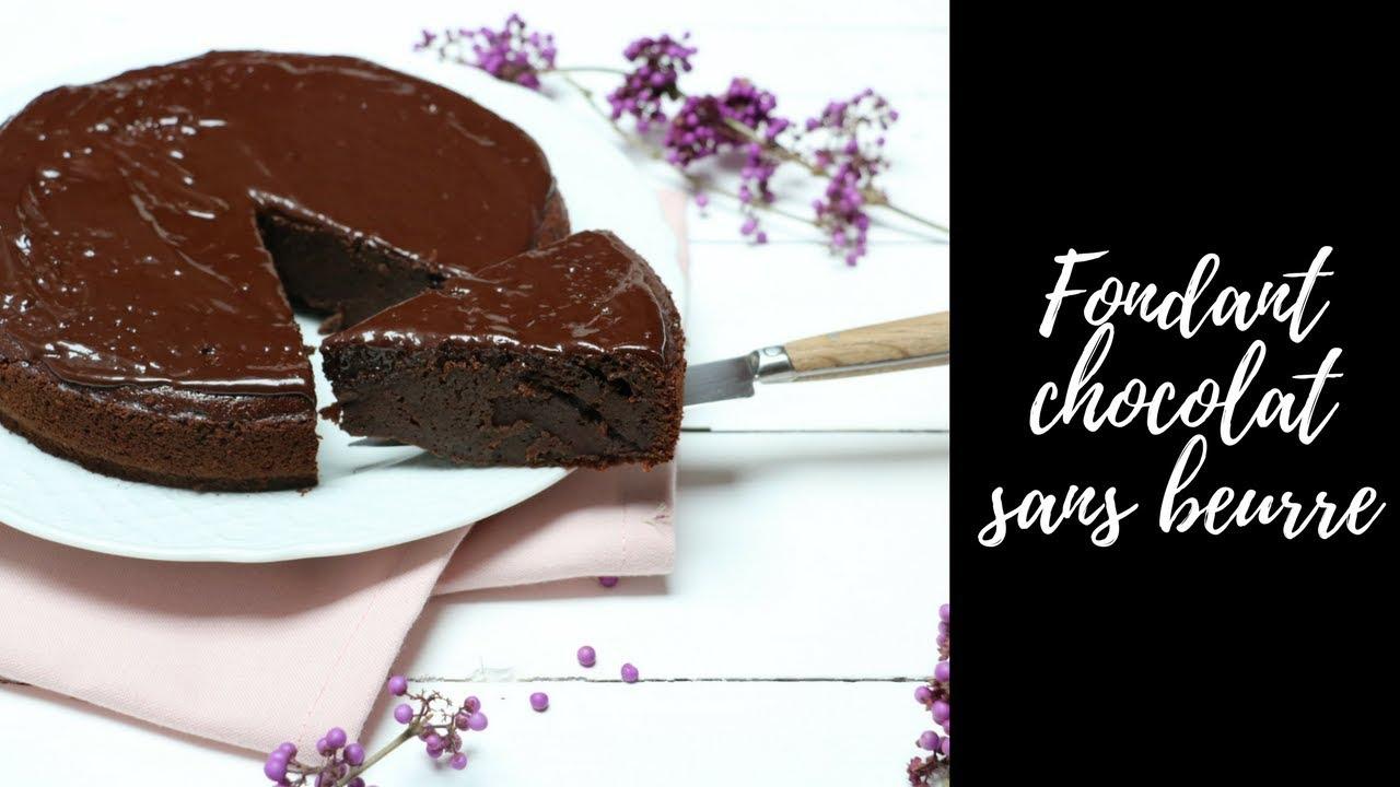 Fondant Au Chocolat Sans Beurre Youtube