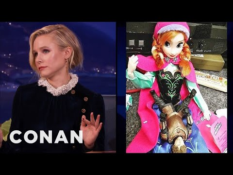 "Kristen Bell Got Filthy With Her ""Frozen"" Action Figure  - CONAN on TBS"