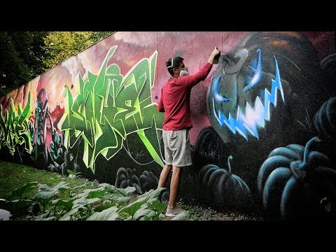 Painting UNBELIEVABLE Halloween wall | Ft. Smoe