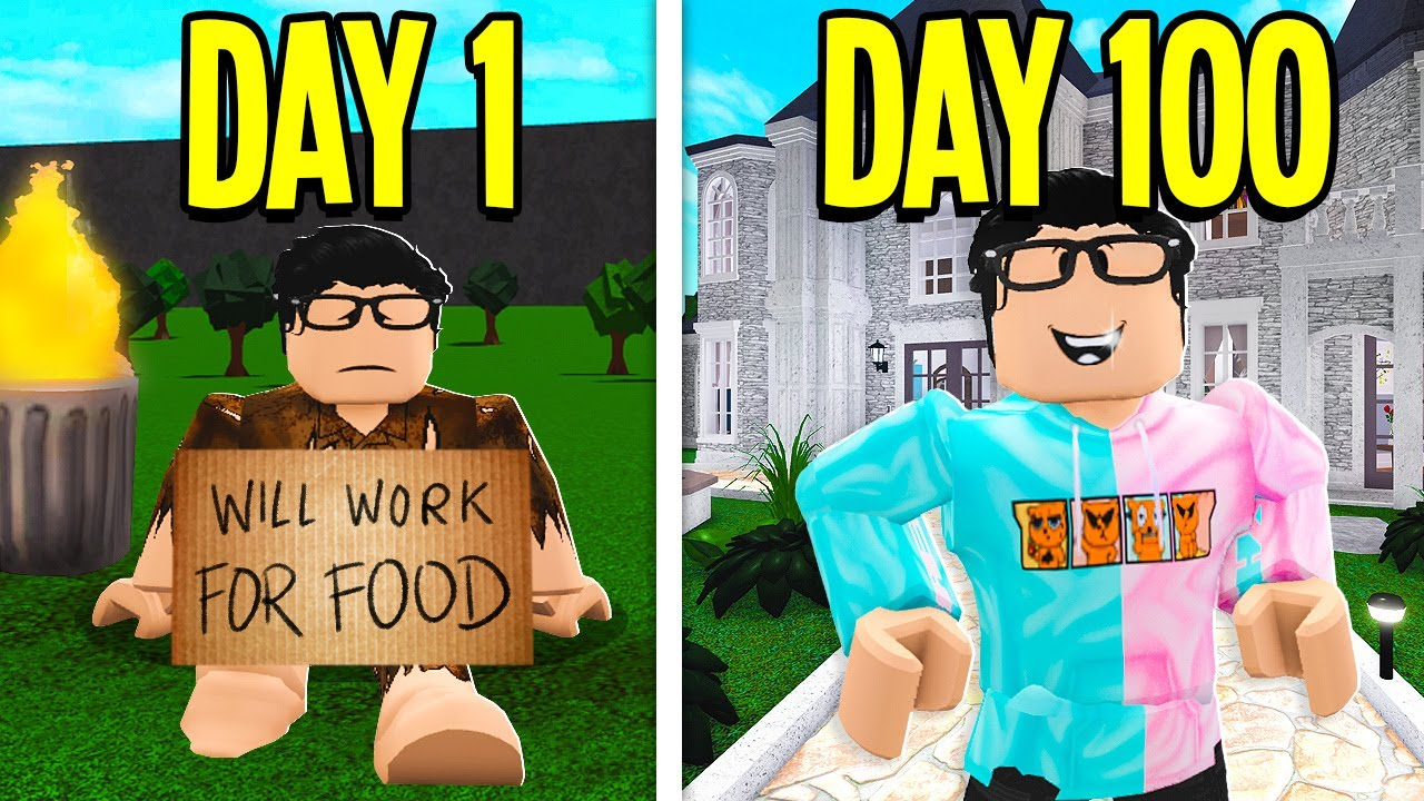 I Spent 100 Days On Roblox Bloxburg!