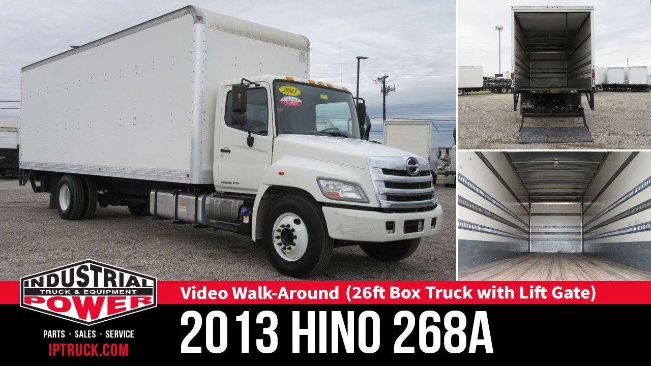 2013 HINO 268A 26ft Box Truck with Lift Gate | Hino Truck Review |  Industrial Power
