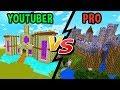 Youtuber vs. Pro Builder - CASTLES! | Minecraft