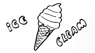 How To Draw Ice Cream Cone Easy - Dondurma Nasıl Çizilir