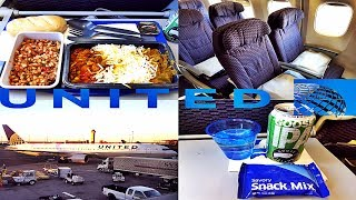 United Airlines ECONOMY CLASS New York to London|Boeing 767-300ER