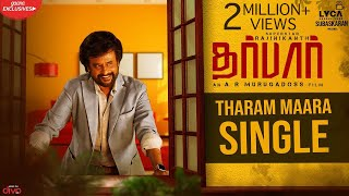 DARBAR (Tamil) - Tharam Maara Single (Lyric Video) | Rajinikanth | AR Murugadoss | Anirudh