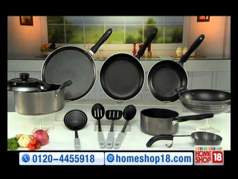 Home18 Teflon Coated Non Stick Cookware Set By Crystal