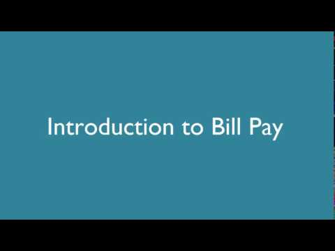 Online Banking: Bill Pay Tutorial