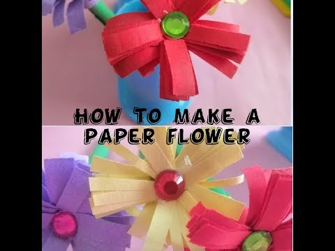 How To Make Paper Flower In Just 5 Minutes - DIY & CRAFT