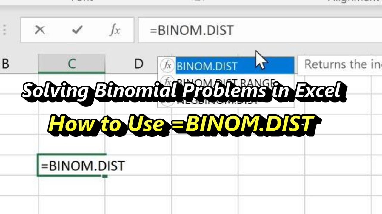 How to Use Excel's Binomial Distribution Function =BINOM.DIST