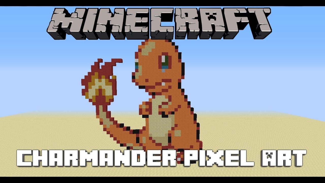 Charmander Pixel Art Speedbuild In Minecraft By Zetris Meme Center