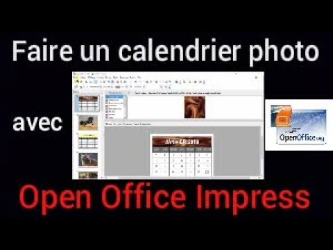 Comment faire un calendrier photo avec open office impress youtube - Faire un diaporama avec open office ...
