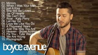 Repeat youtube video Top 15 Best Acoustic Cover Songs of Boyce Avenue 2016   TOP 15 BEST COVERS OF 2016 1