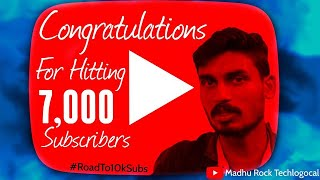Thanks For 7000 Subscribers | Special Live With Madhu Rock