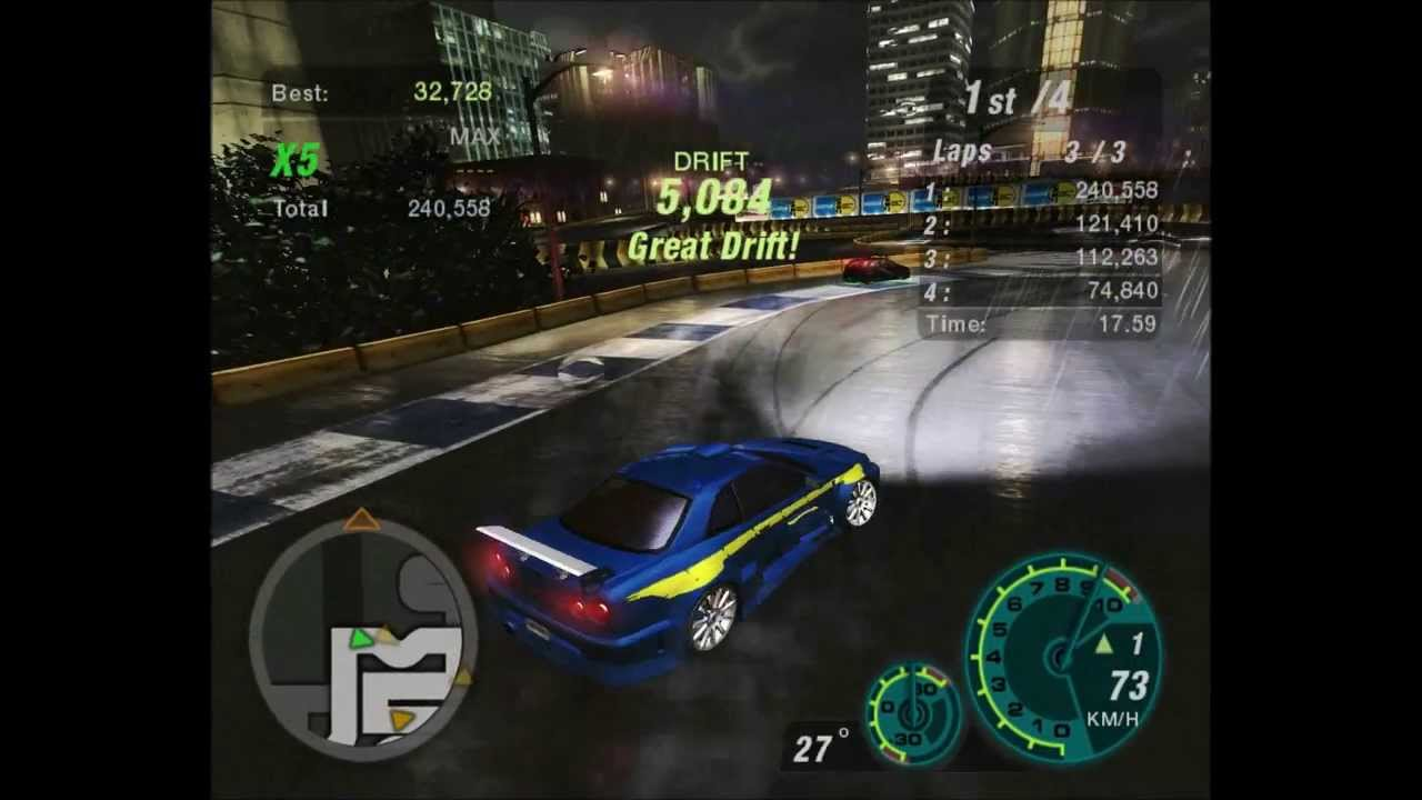 Need For Speed Underground 2 - Hard Drift with the Legendary Skyline [HD]