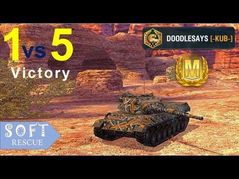 Leopard 1: 7700 Damage , 6 Frags (1vs5) - WOT BLITZ -