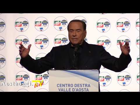Live Streaming Silvio Berlusconi chiusura campagna elettorale Valle d'Aosta