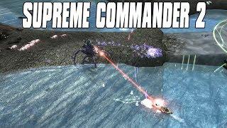 Supreme Commander 2 - AI Assault 4v4 Multiplayer Gameplay