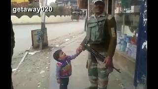 Funny Kashmiri Kid Asking CRPF | Me Dii Gun | Hahahah So Funny Must Watch This